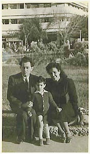 Tzefira with her Husband Ben-Ami Zilber, and their son, Ariel.