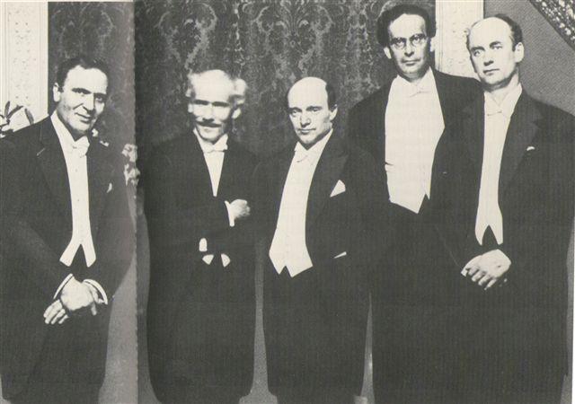 Photo featuring (from L to R) Bruno Walter, Arturo Toscanini, Erich Kleiber, Otto Klemperer, Wilhelm Furtwängler. Taken from Furtwangler.net