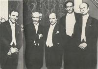 Photo featuring (from L to R) Bruno Walter, Arturo Toscanini, Erich Kleiber, Otto Klemperer, Wilhelm Furtwängler. Taken from Furtwangler.net